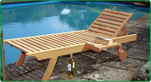 Wooden Sun Lounger-