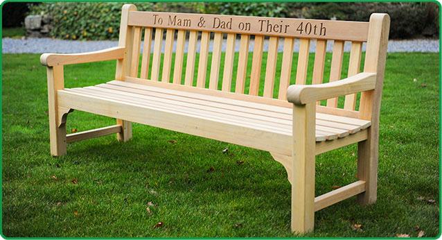 Wooden Inscribed Inscribed Bench-